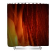Glow Of The Flame Shower Curtain