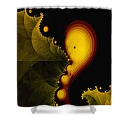Glow Worm Shower Curtain