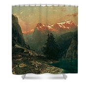 Glowing Alps Shower Curtain