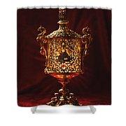 Glowing Antique Lantern Shower Curtain