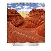 Glowing Butte At The Wave Shower Curtain