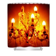 Glowing Chandelier Shower Curtain