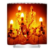 Glowing Chandelier--companion Piece Shower Curtain