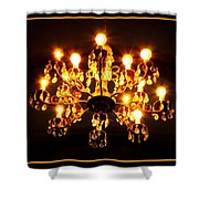Glowing Chandelier With Border Shower Curtain