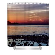 Glowing Evening Shower Curtain
