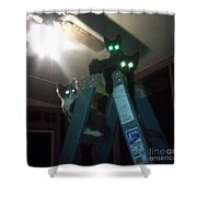 Glowing Eyes Shower Curtain