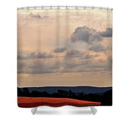 Glowing Field Shower Curtain