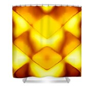 Glowing Honeycomb Shower Curtain