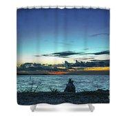 Glowing Horizon Shower Curtain
