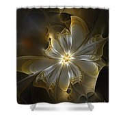 Glowing In Silver And Gold Shower Curtain