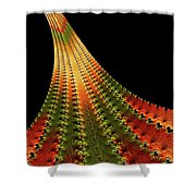 Glowing Leaf Of Autumn Abstract Shower Curtain