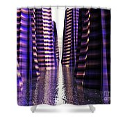 Glowing Lights Of An Electric Canyon Shower Curtain
