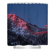 Glowing Little Cottonwood Canyon Shower Curtain