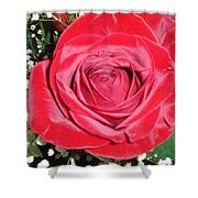 Glowing Rose Shower Curtain