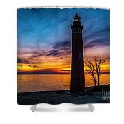 Glowing Sky At Little Sable Shower Curtain