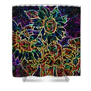 Glowing Sunflowers Shower Curtain