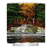 Glowing Tranquility Shower Curtain