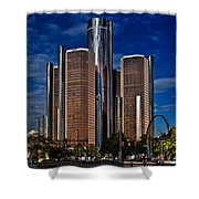 Gm And Marriot Monster In Detroit Shower Curtain