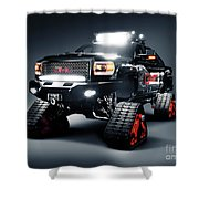 Gmc Pickup Truck On Snow Tracks Shower Curtain