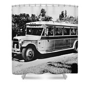 Gm's First Bus Line Shower Curtain