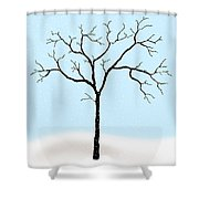 Gnarled In Winter Shower Curtain