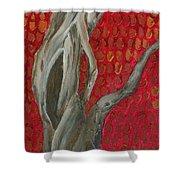 Gnarly Autumn Tree Shower Curtain