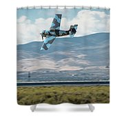 Go Fast Turn Left Fly Low Friday Morning Unlimited Bronze Class Shower Curtain