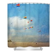 Go Fly A Kite Shower Curtain