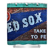 Go Red Sox Shower Curtain