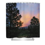 Go Softly Into The Night Shower Curtain
