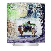Go To Field Shower Curtain