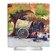 Go To Pagoda Shower Curtain