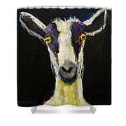 Goat Gloat Shower Curtain