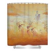 Goat Herder Shower Curtain