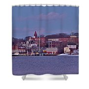 Goat Hill At Sunset In Winter Shower Curtain