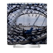 Goat Island Funnel Shower Curtain