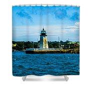 Goat Island Light House Shower Curtain