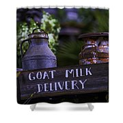 Goat Milk Delivery Shower Curtain