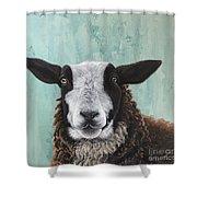 Goat Tee Shower Curtain