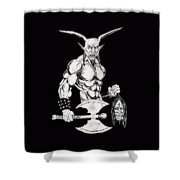 Goatlord Shower Curtain
