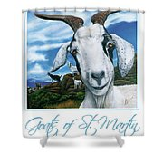 Goats Of St. Maarten- Andre Shower Curtain