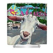 Goats Of St. Maarten- Sofie Shower Curtain