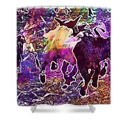 Goats Wildpark Poing Young Animals  Shower Curtain