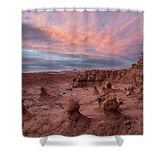 Goblin Sunset Shower Curtain