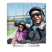 Gocar Tour By Bay Bridge In San Francisco, California Shower Curtain