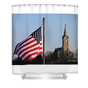 God And Country 2 Shower Curtain