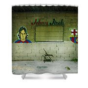 God And Futbol Shower Curtain