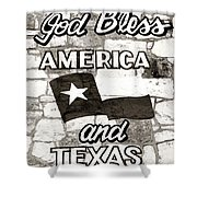 God Bless America And Texas Shower Curtain