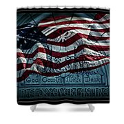 God Country Notre Dame American Flag Shower Curtain