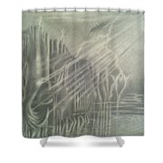 G . O . D   In The Mount. Shower Curtain